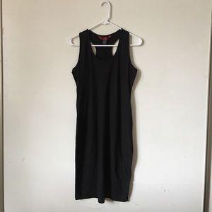 HOT💋KISS Black Fitted Racer Back Mini Dress